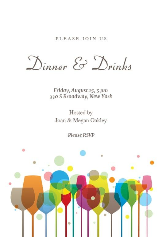 Dinner Invitation Template Extraordinary Ambience  Dinner Party Invitation Template  New Youtubers .