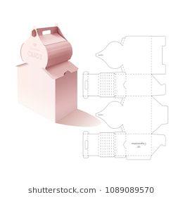 retail box with blueprint template gift box pinterest box diy