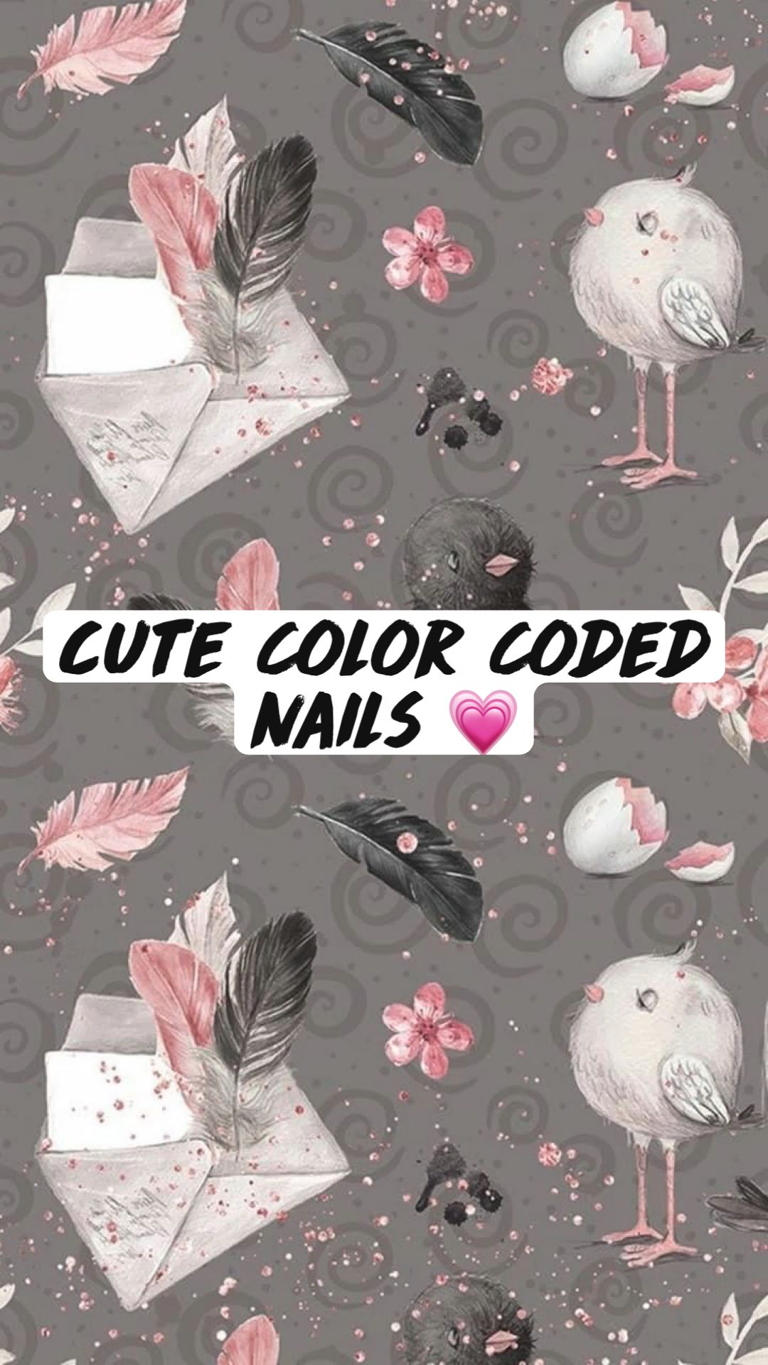 Cute Color Coded Nails 💗