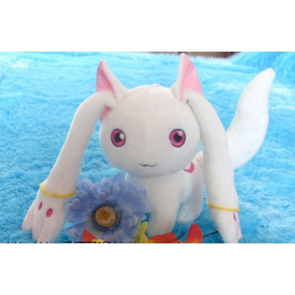 Hot Anime Puella Magi Madoka Magica Magic Kyubey Cat Plush Toy Doll Cosplay 20cm