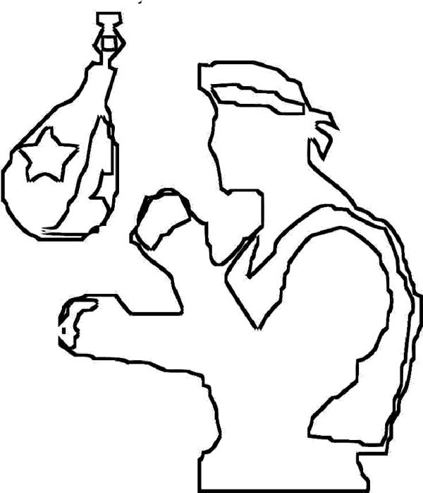 exercise boxing coloring page  boxing day  coloring
