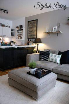 Hier Ein Kleiner Einblick In Unseren Offenen Wohnbereich Mit Kuche Esszimmer Und Wohnzimmer Wohnen Wohnzimmer Einrichten Wohnung