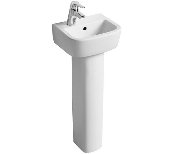 Ideal Standard Tempo 350mm 1 LH Tap Hole Handrinse Basin And ...