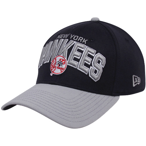 New Era New York Yankees Navy Blue-Gray Old School Classic 39THIRTY Flex Hat 75fee97f0391