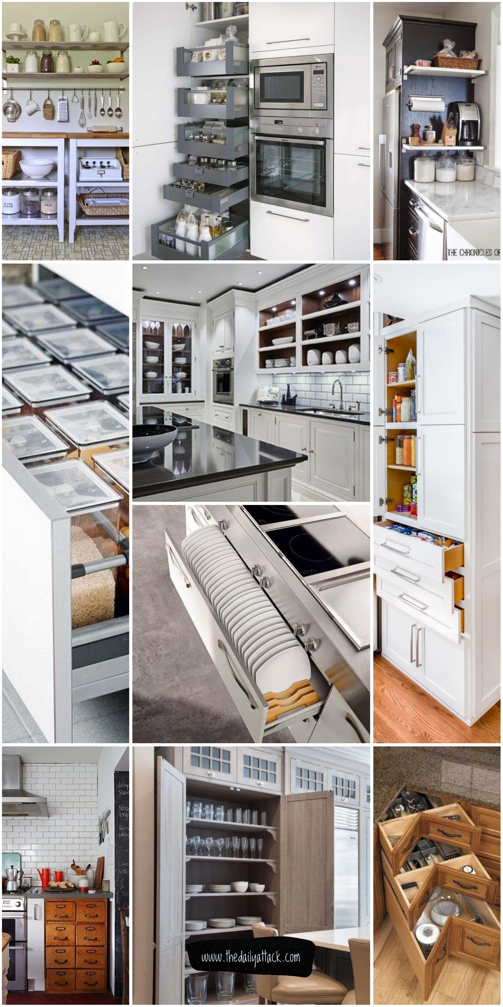 61 Unique Kitchen Storage Ideas Easy Storage Solutions For Your Kitchen Kitchen Remodel Small Kitchen Storage Trendy Kitchen