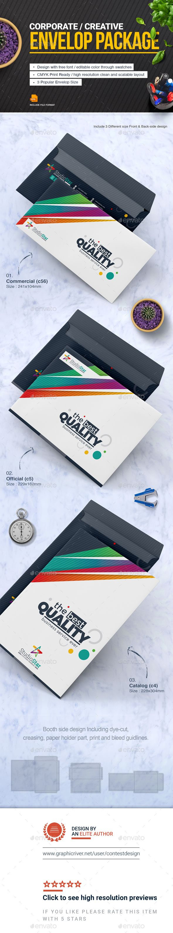 Envelop Package Design Template  Package Design Stationery