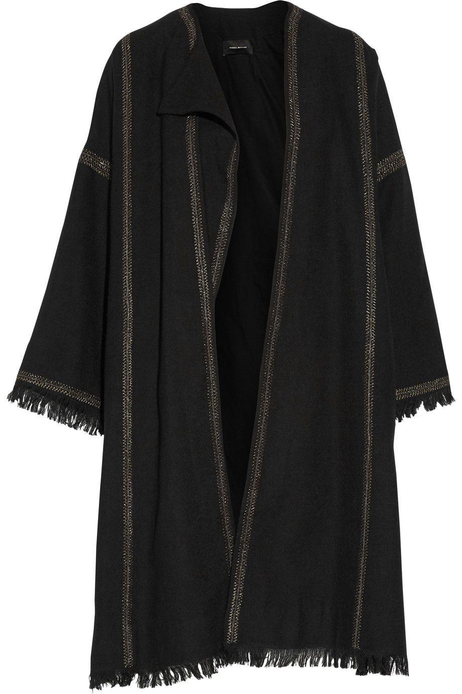 ISABEL MARANT Baxter Embellished Embroidered Wool Coat. #isabelmarant #cloth #coat