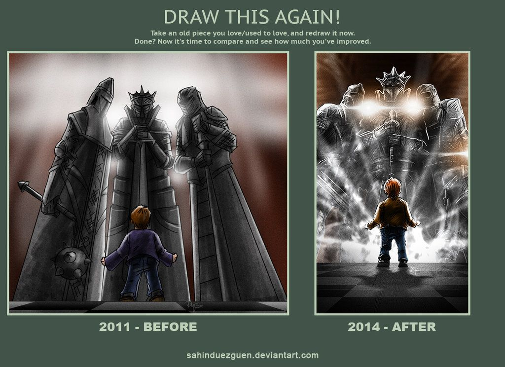 Draw this again - I'll be a Knight by sahinduezguen on deviantART