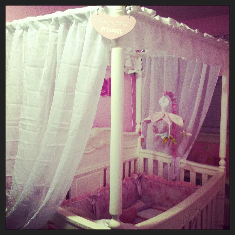 Disney enchanted princess canopy crib. Mia's next canopy