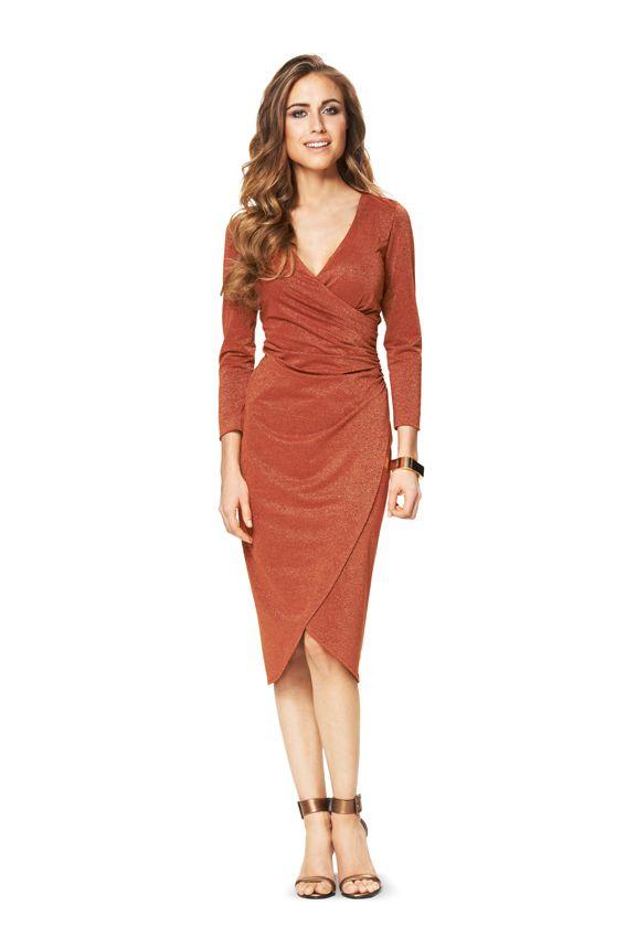 Платье с запахом выкройка 6829 из журнала 1420152016
