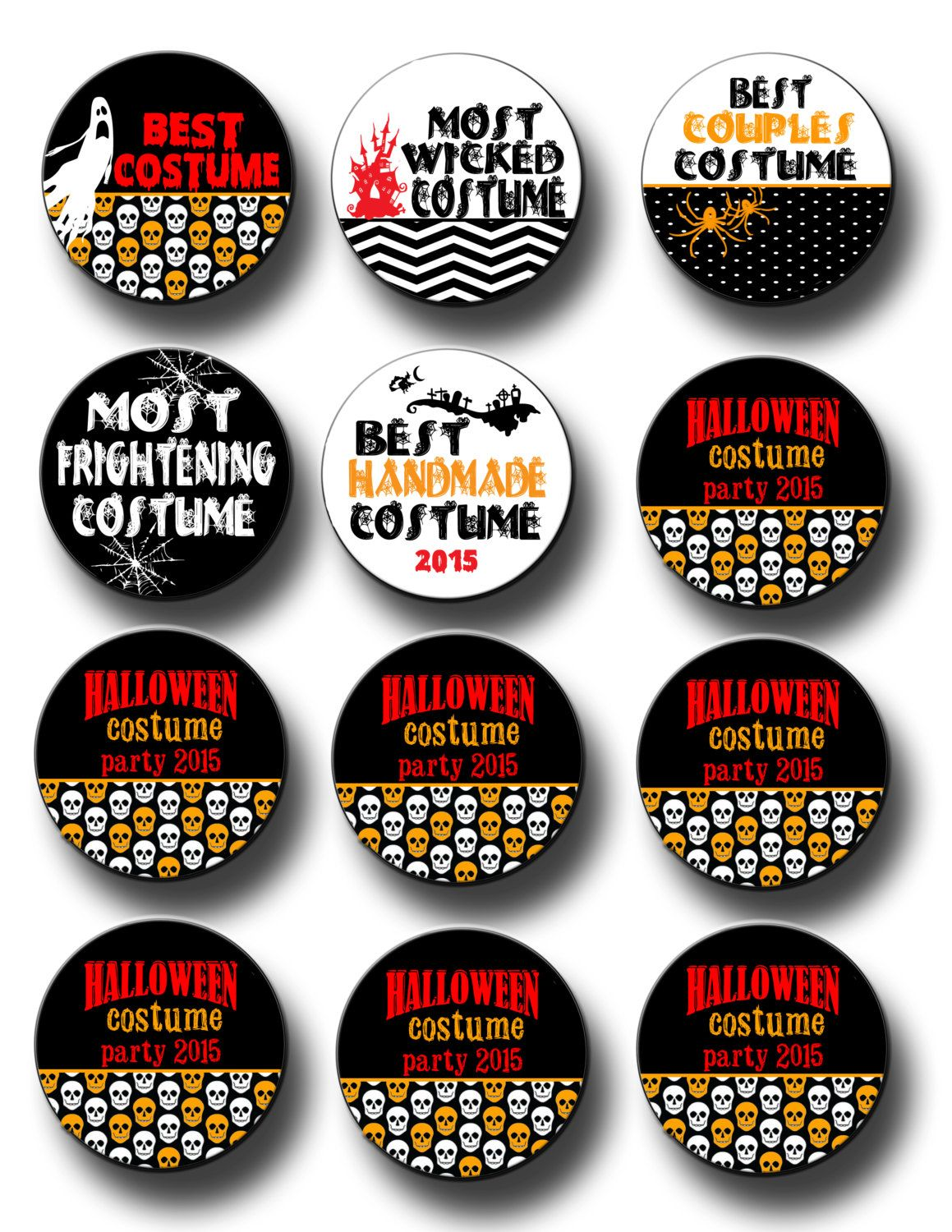 Halloween Costume Party Award 2.25 inch Pinback buttons pins ...