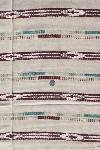 1940s Vintage Upholstery Fabric Indian Blanket Woven Cotton Camp