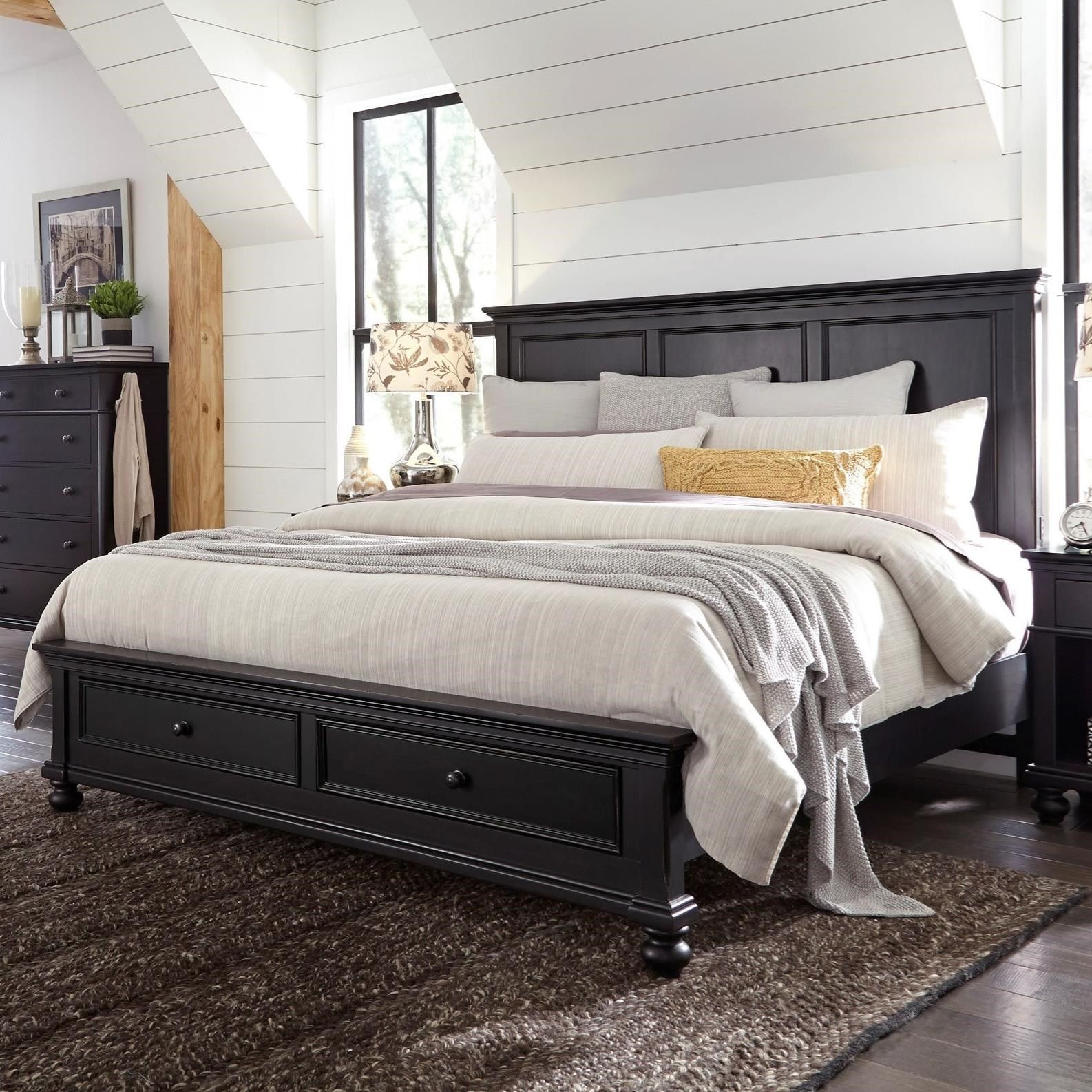 oxford oakford king panel storage bed by highland court at morris