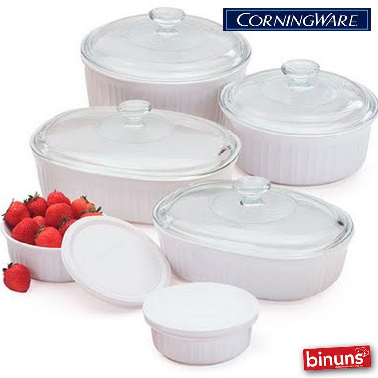CORNINGWARE Binuns Corningware made Made in the USA and France from