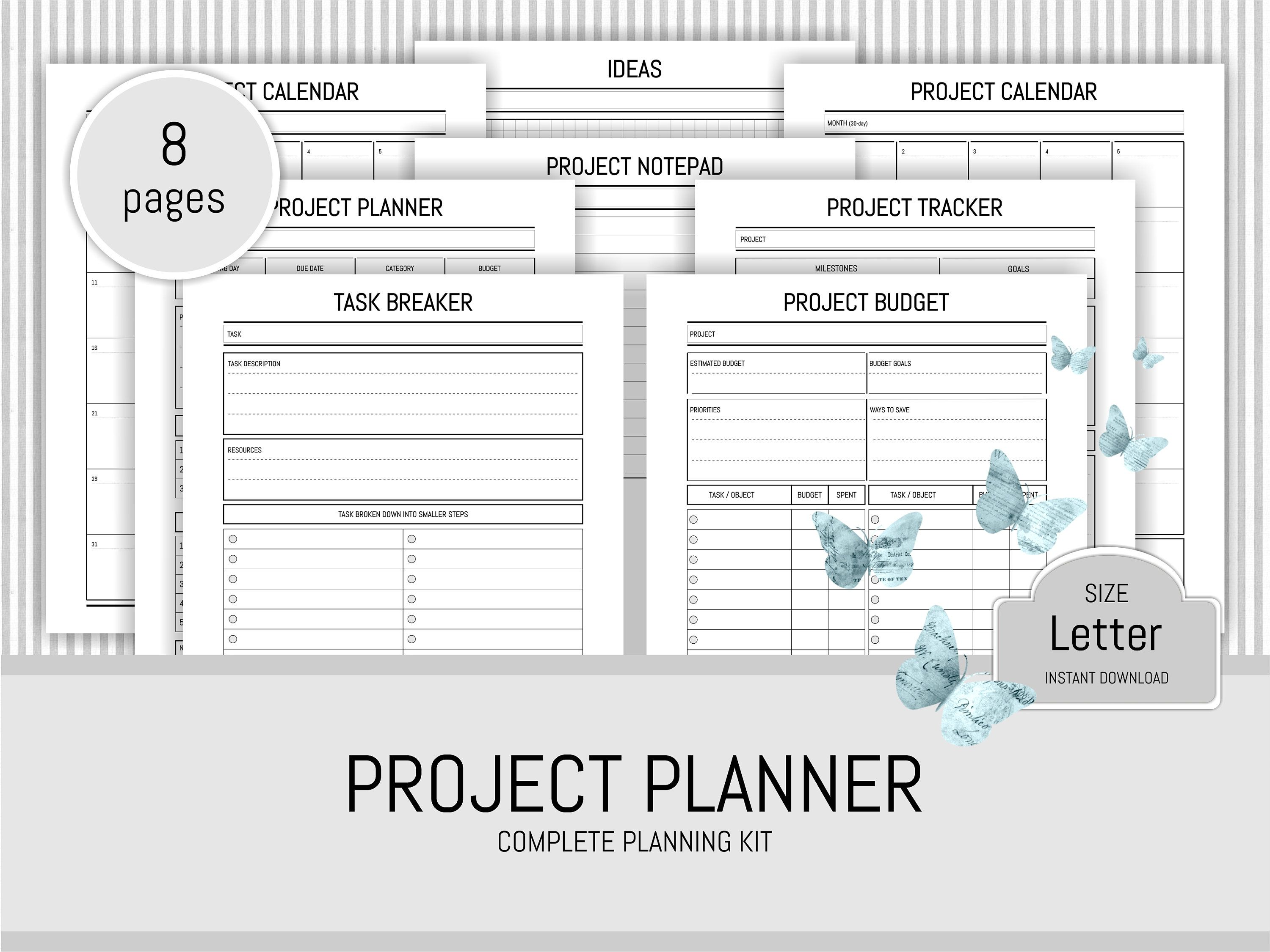 printable project planner kit to do list work planner academic