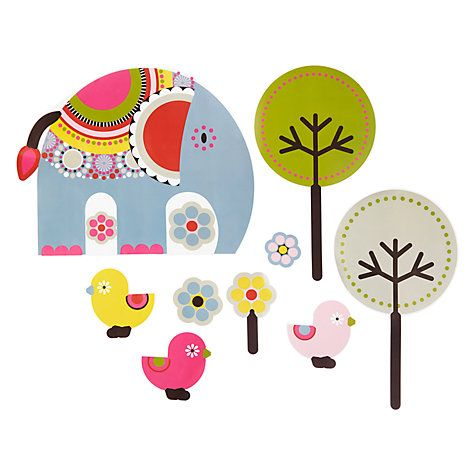 buy little home at john lewis abbey elephant wall stickers online at