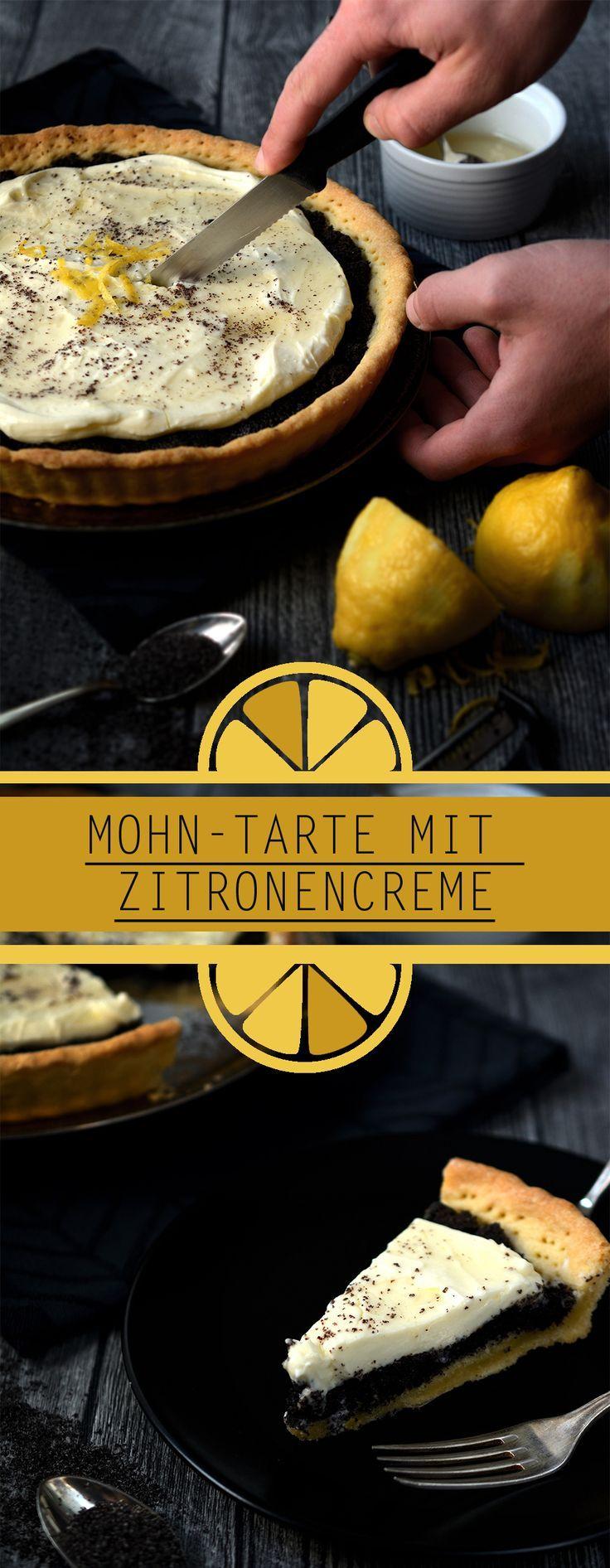 MohnTarte mit Zitronencreme  Poppy Seed Tart with lemon cream  Blogger  Backrezepte