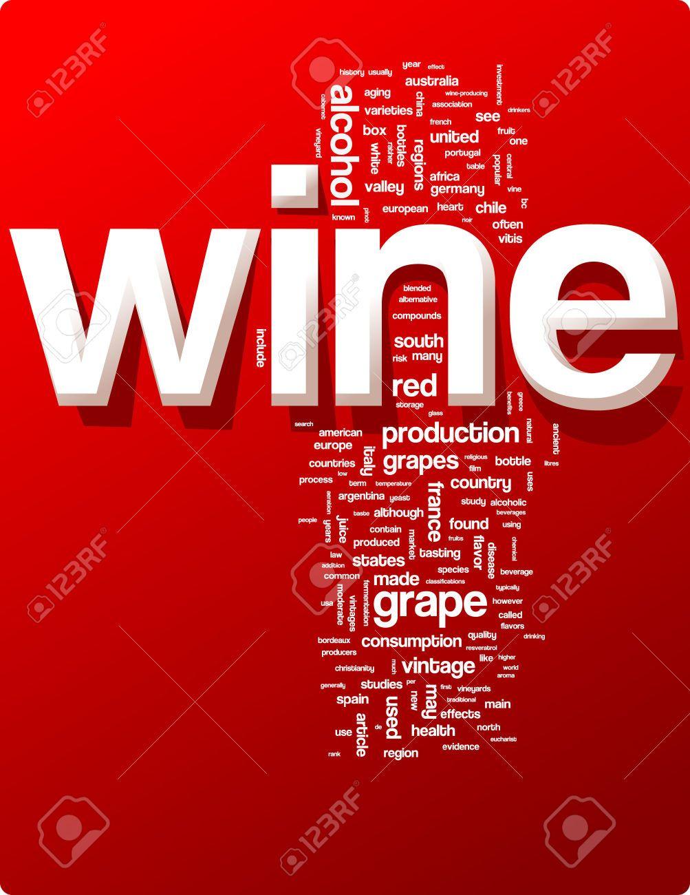 Wine Word Cloud Illustration Graphic Tag Collection Cloud Illustration Word Cloud Words