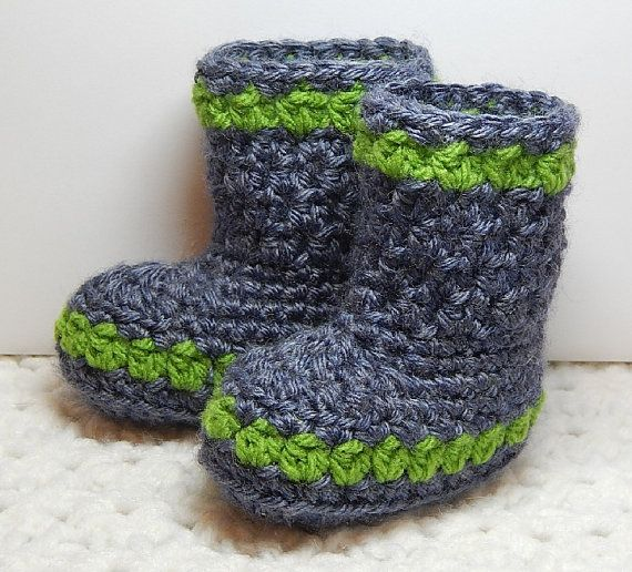In-Stock Slip-On Booties Boots Newborn Baby by SewNStitchLLC