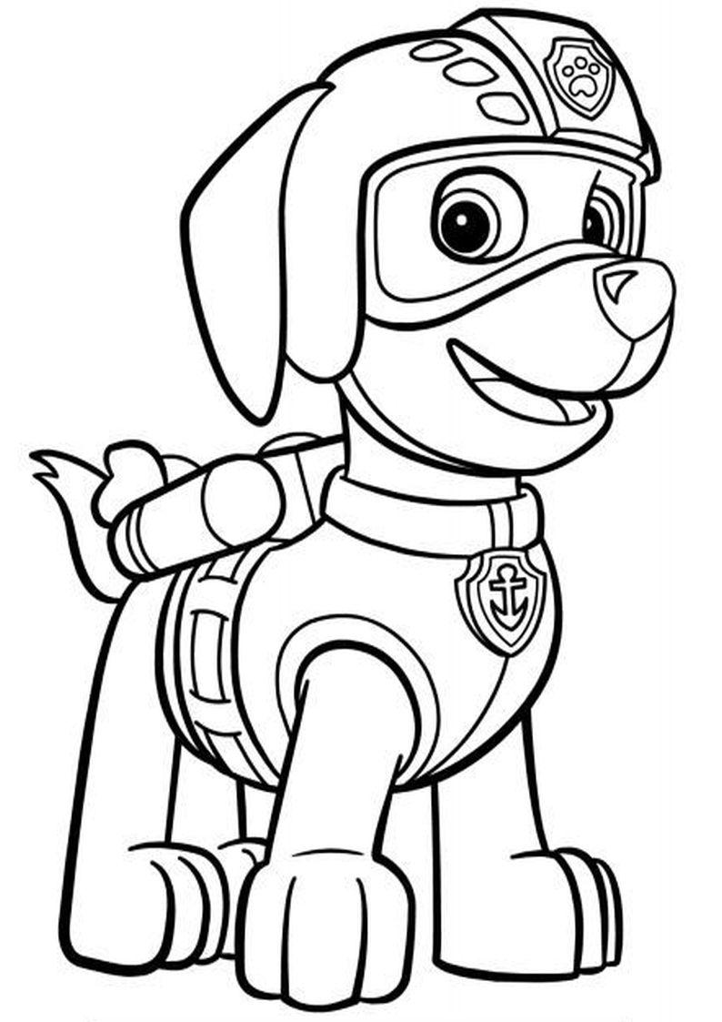 Kolorowanka Psi Patrol Malowanka Dla Dzieci Nr 5 Coloring