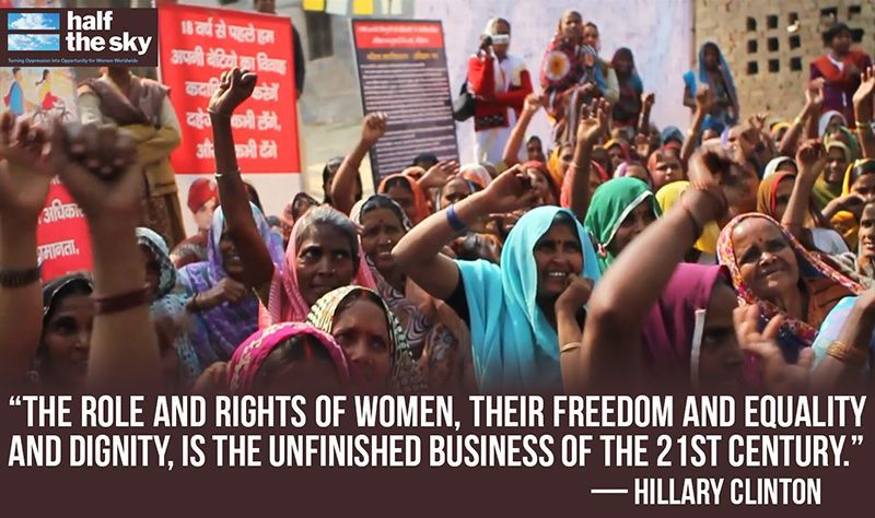 """Half The Sky Quote: """"The Role And Rights Of Women, Their Freedom And Equality"""