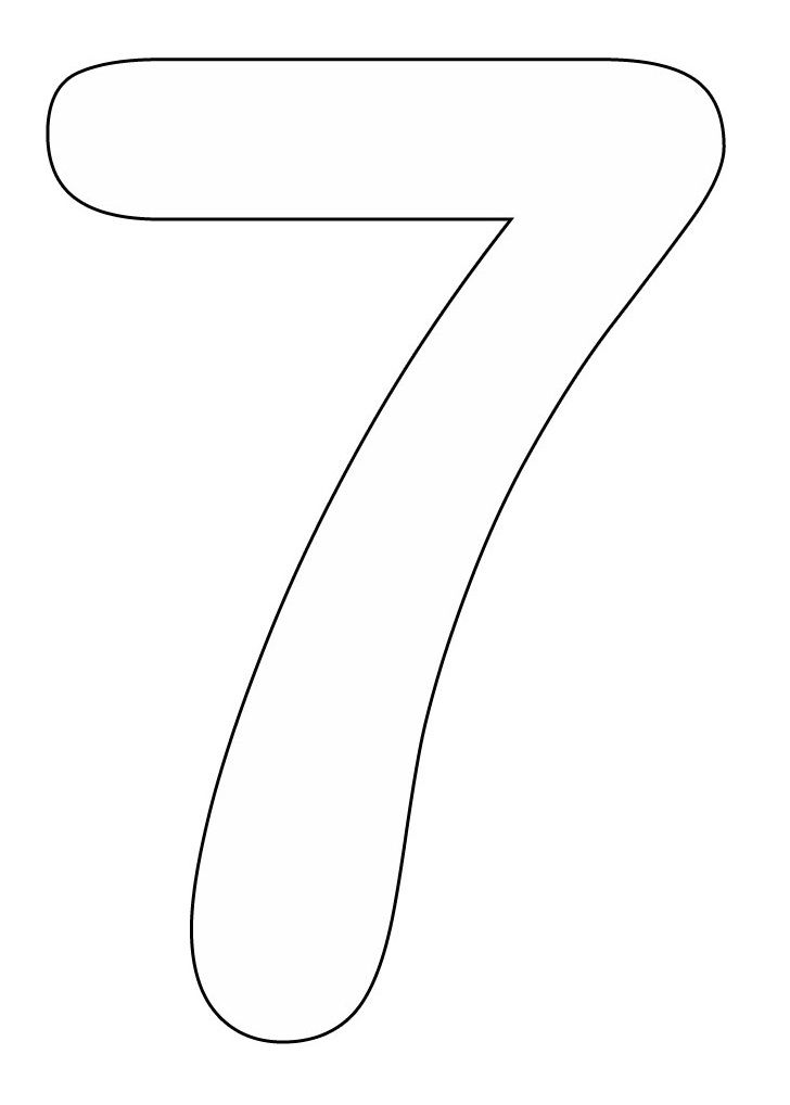 Number 7 Coloring Pages To Print Coloring Pages Coloring Pages