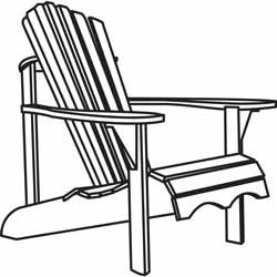 The Adirondack chair is a simple rustic wooden chair for outdoor