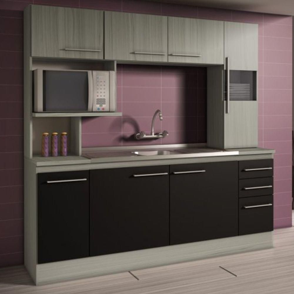 Cozinha Compacta Decibal Napoles Smeraldo Com Preto 4 Pe As Arm Rio