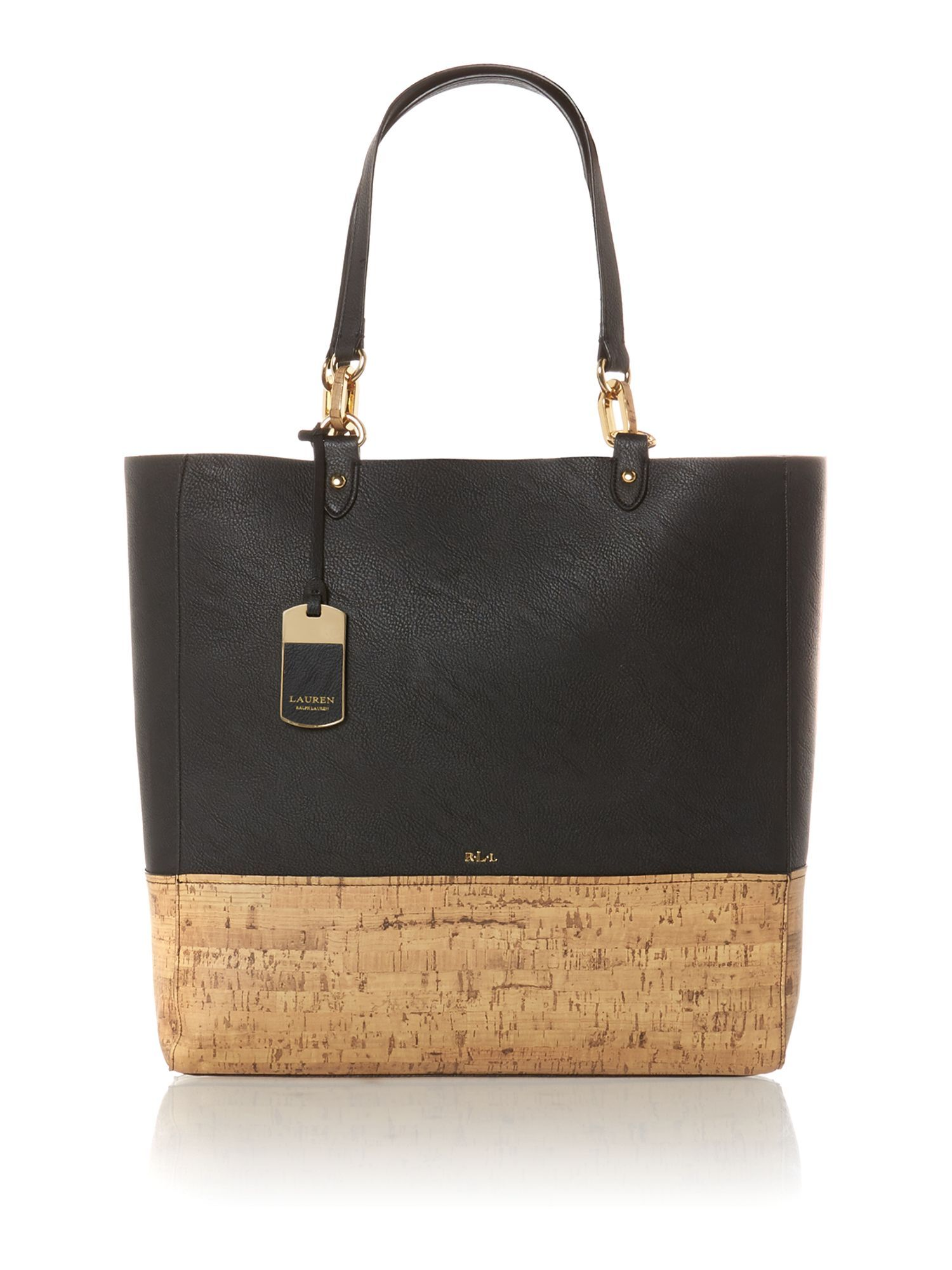 8a667d0c9b Lauren Ralph Lauren Bembridge black cork tote bag