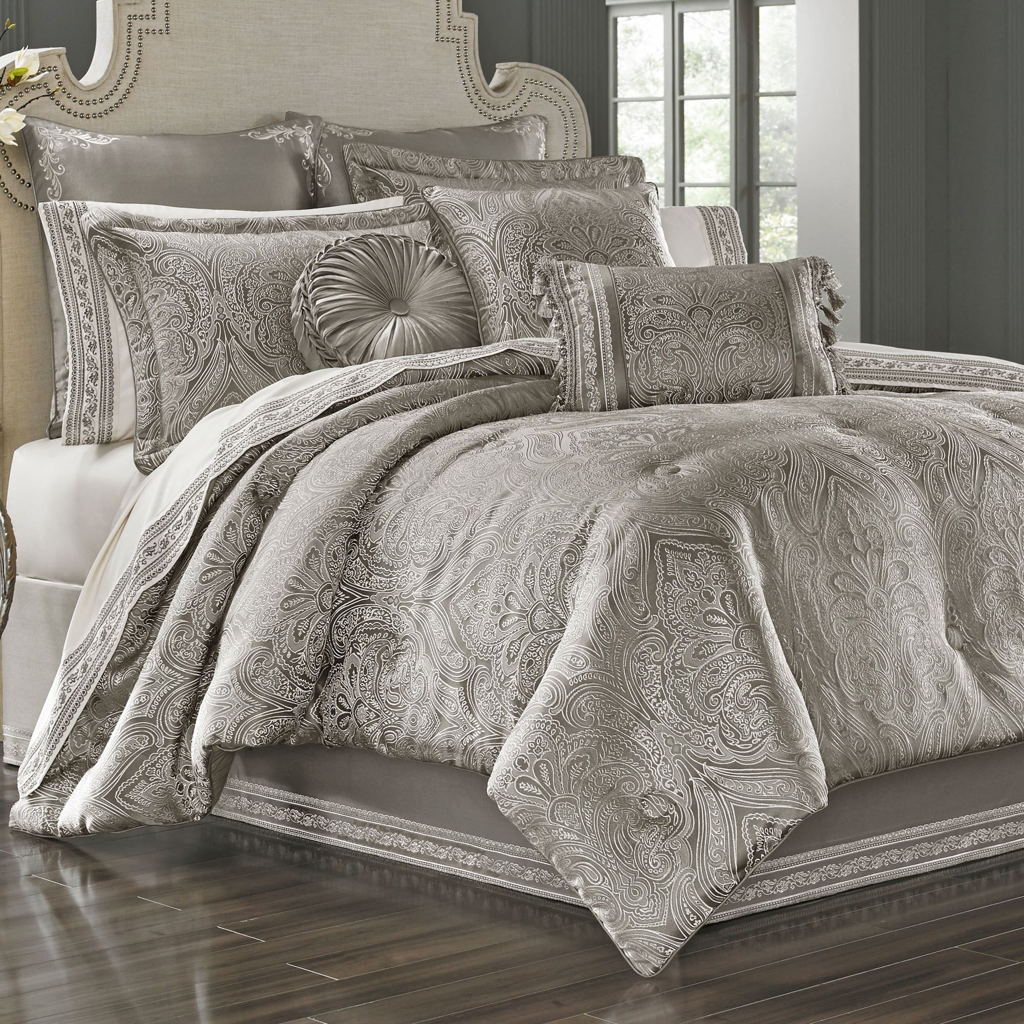 new bedding p colette silver set by sets comforter j queen york