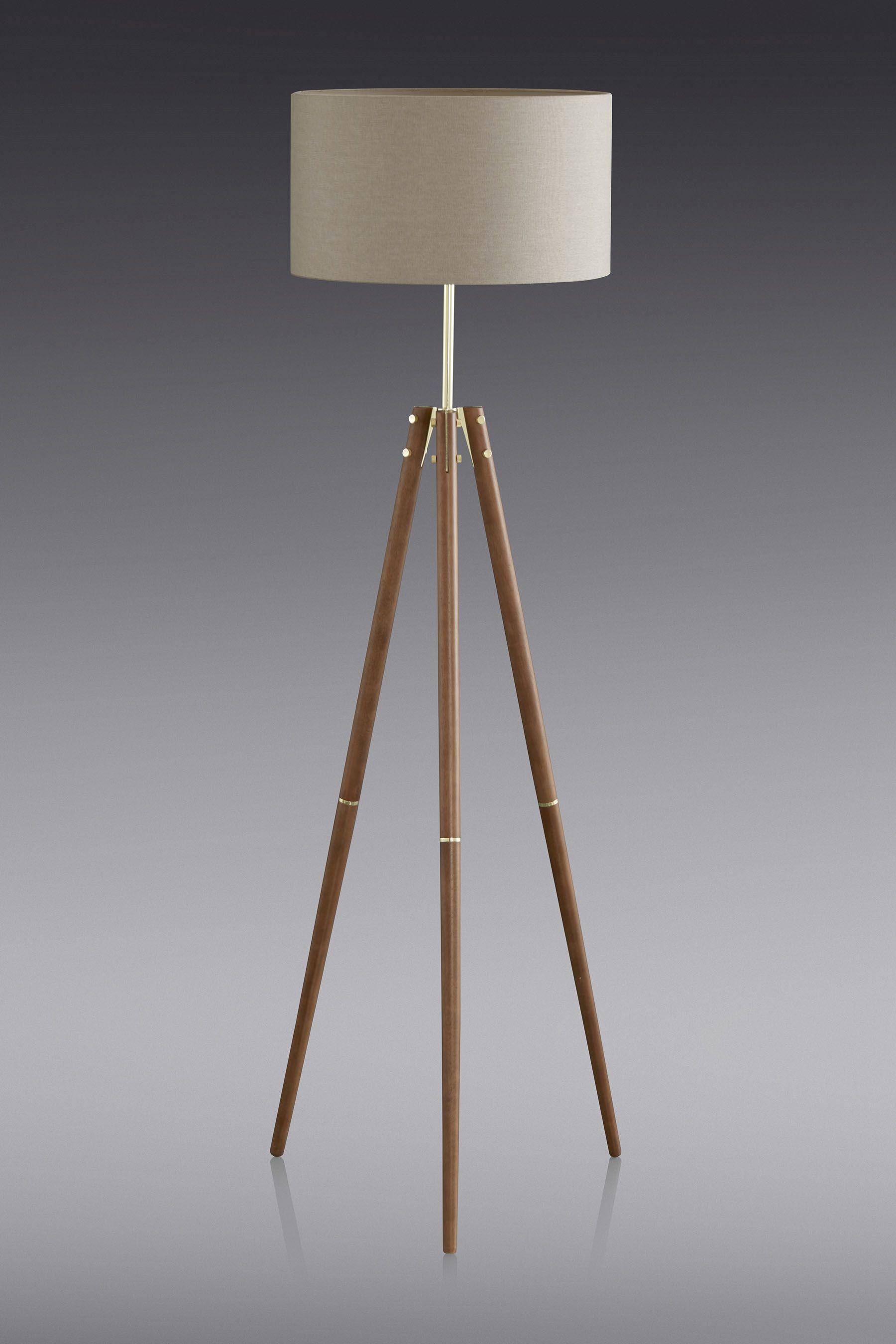 Buy Henley Wooden Tripod Floor Lamp from the Next UK