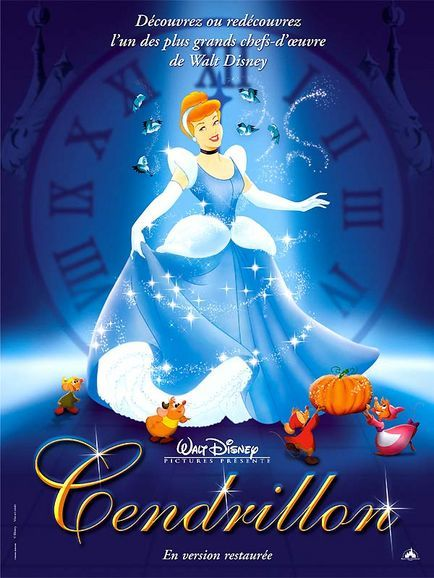 Cinderella French Movie Poster Walt Disney Cendrillon Walt Disney Pictures