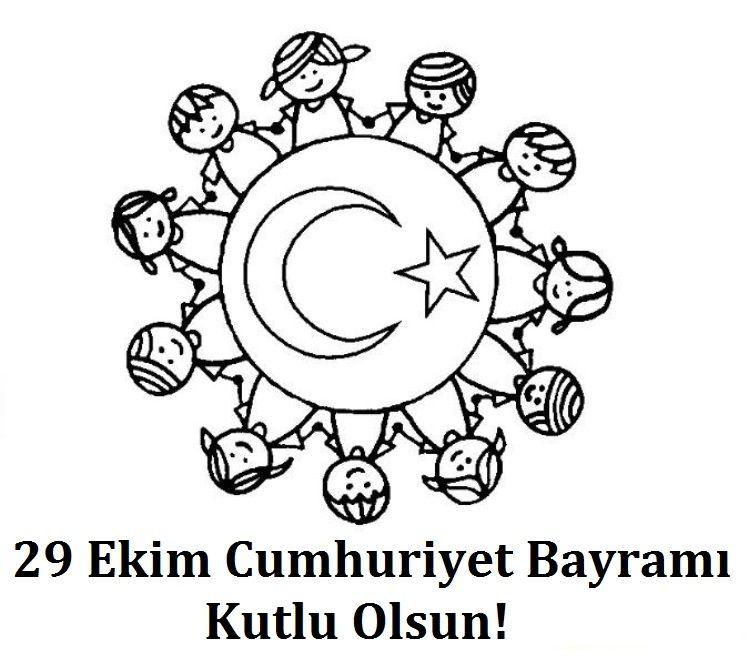 29 Ekim Cumhuriyet Bayrami Boyama Sayfalari Boyama Sayfalari