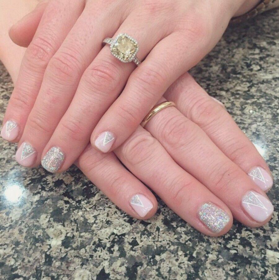 Bridal Nails OPI GEL POLISH: 2 coats Bubble Bath 1 light coat Funny ...