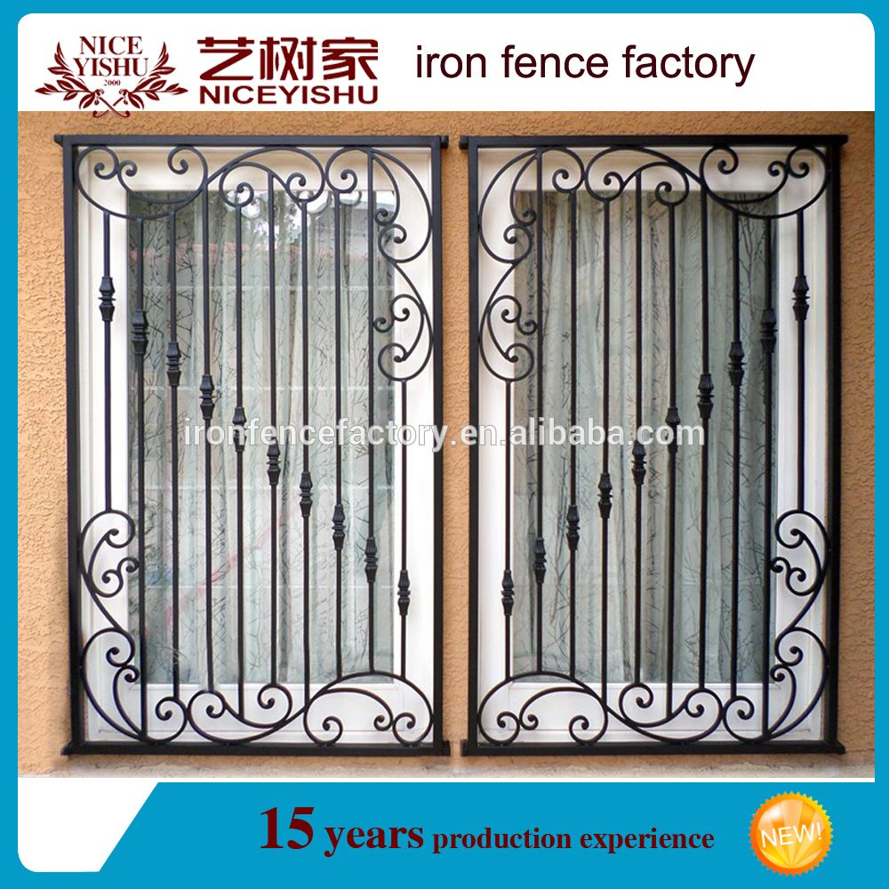 Ornamental Wrought Iron Window Grill Design/simple Steel