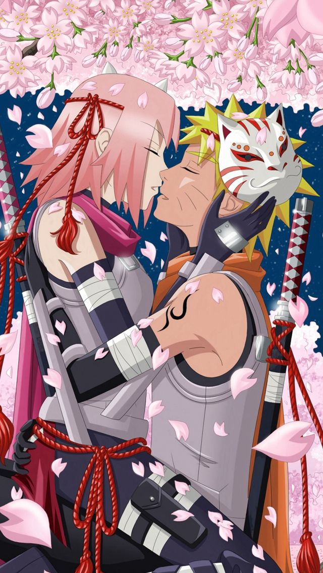 Art Hanabi Rin Anime Naruto Uzumaki Naruto Haruno Sakura Girl Man Night Moon Trees Cherry Iphone Naruto Wallpaper Anime Wallpaper Iphone Hd Anime Wallpapers