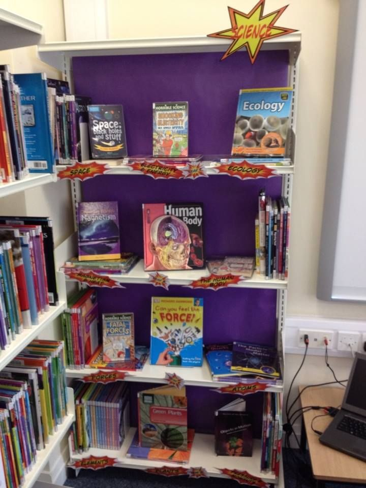 Non-fiction homework bay - a series of them, with only the books related to the subjects they're studying, clearly signposted