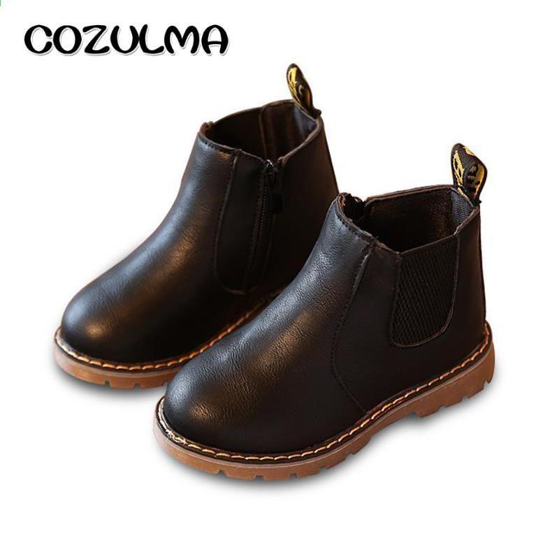 Cozulma Dzieciece Buty Zimowe Dla Dzieci Dzieci Chlopcy Dziewczeta Martin Buty Recznie Robione Buty Girls Chelsea Boots Girls Casual Shoes Girls Leather Shoes