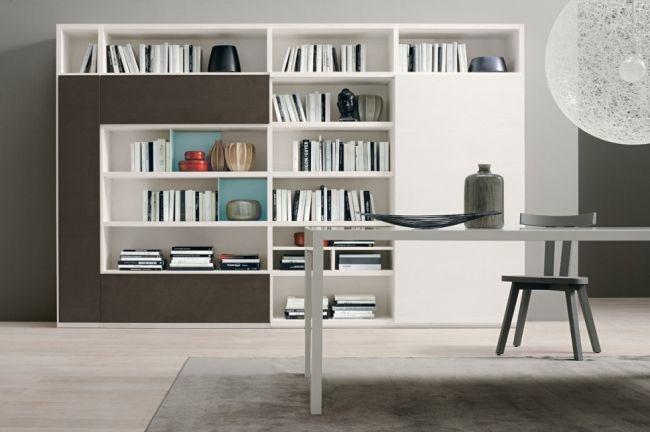 id es pour d corer un salon avec des meubles de rangement mural biblioth que pinterest. Black Bedroom Furniture Sets. Home Design Ideas