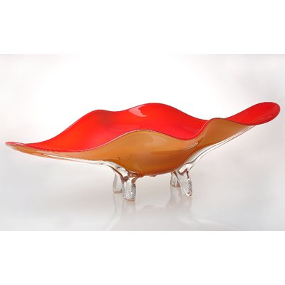 World Menagerie Wilkesboro Art Glass Tabletop Platter Wayfair Mozzarella Typesofcheese Glass Art Glass Platters