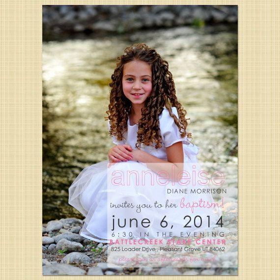 lds custom baptism photo invitation boy girl printable portrait overlay baptism ideas. Black Bedroom Furniture Sets. Home Design Ideas