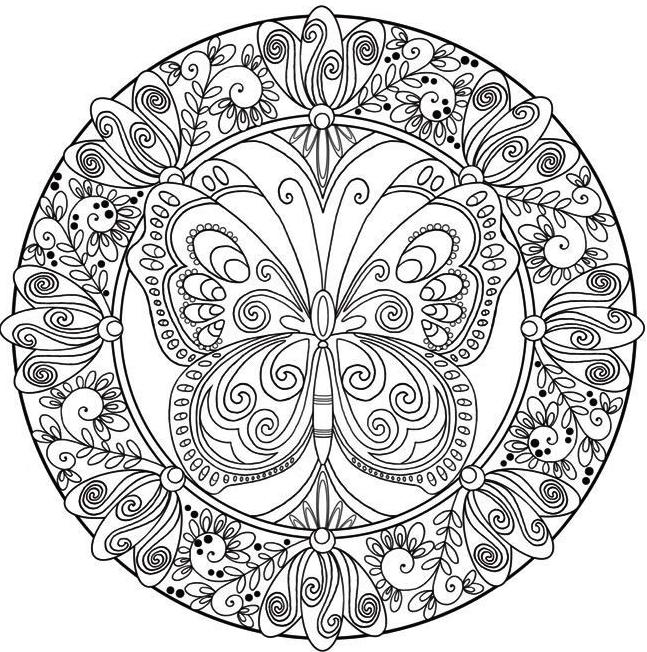Coloring Mandalas Mandala Coloring Butterfly Coloring Page Mandala Coloring Pages