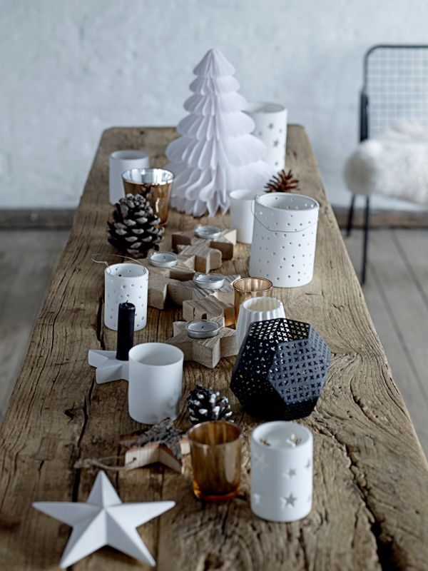 40 id es de d coration de noel au style scandinave xmas noel and christmas - Idee deco de table noel ...
