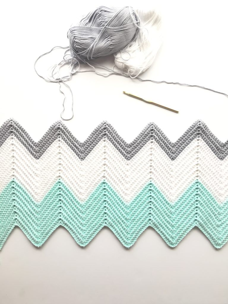 A chevron pattern consists of peaks and valleys. In this pattern ...