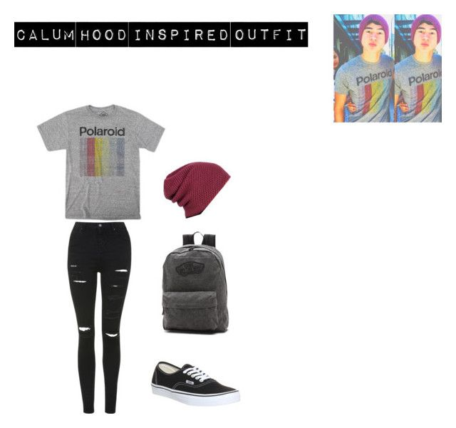 """Calum Hood inspired outfit"" by mangotango900 ❤ liked on Polyvore featuring Topshop, Polaroid and Vans"