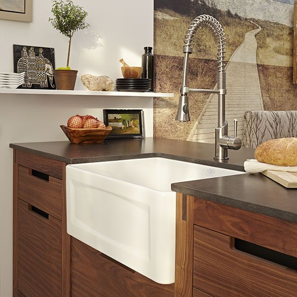 DXV Hillside 24 Inch Apron Kitchen Sink Room Scene- Canvas White ...