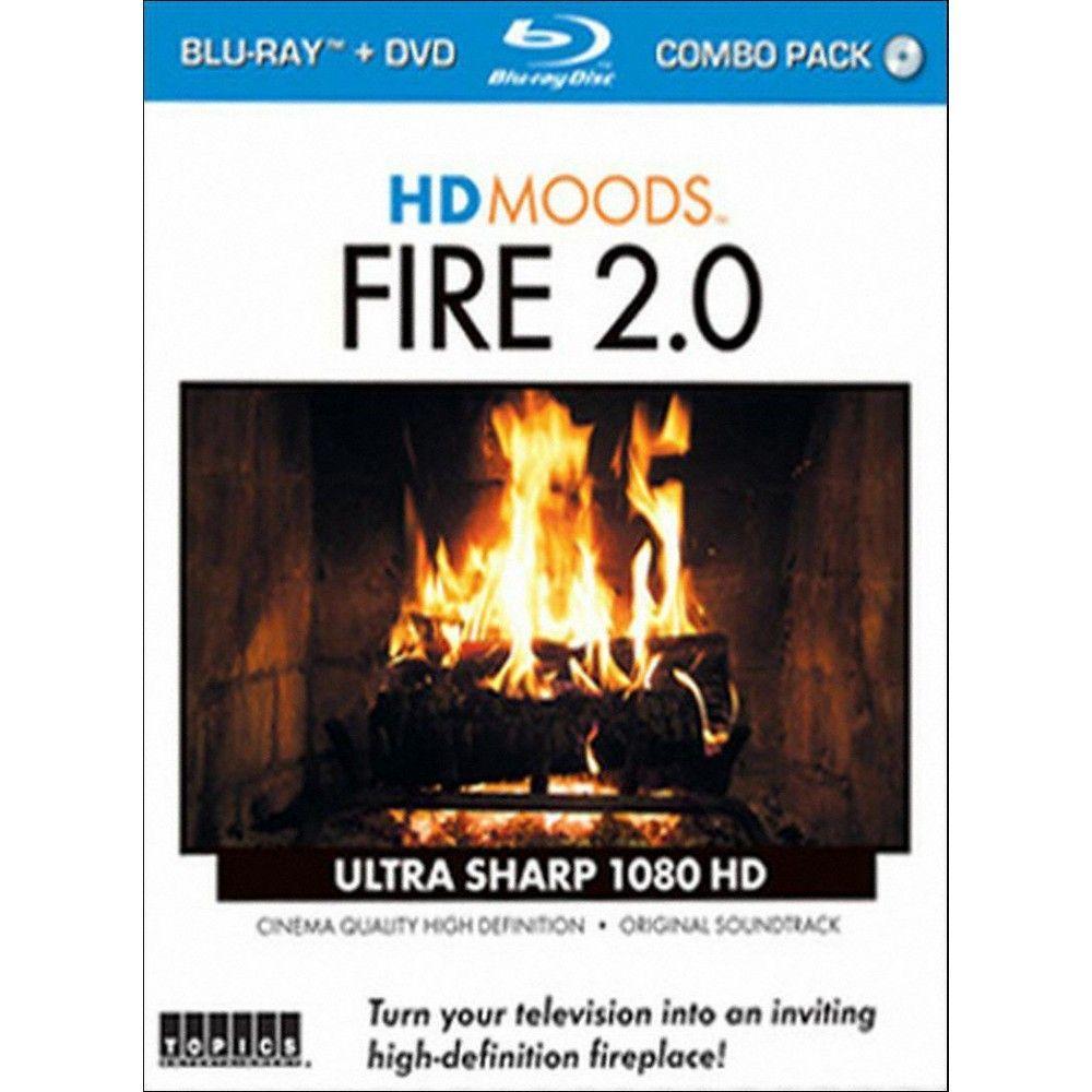 Hd Moods Fire 2 0 2 Discs Blu Ray Dvd Wood Burning Fires