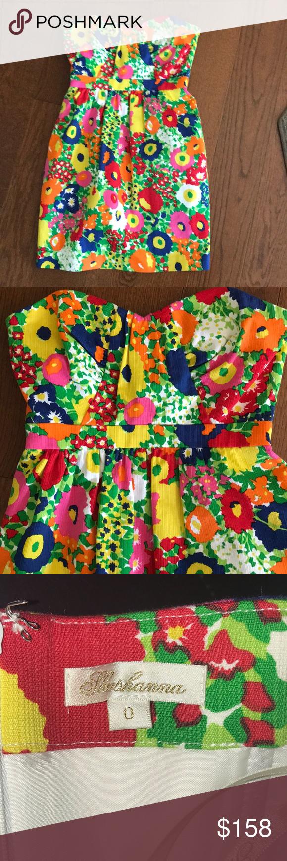 e8e24d4123c 💐SHOSHANNA💐TEXTURE STRAPLESS FLORAL DRESS💐 New without tag Shoshana floral  textured dress.