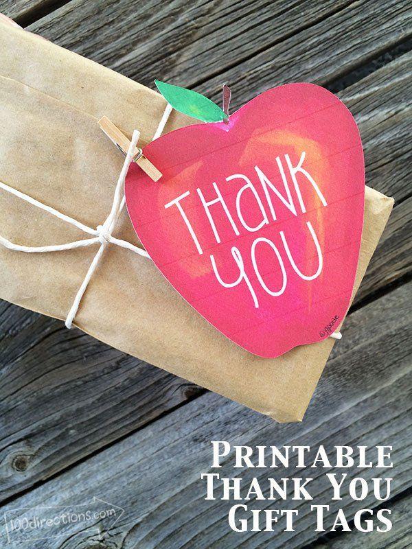 Apple Thank You Gift Tags   Pinterest   Kreativ