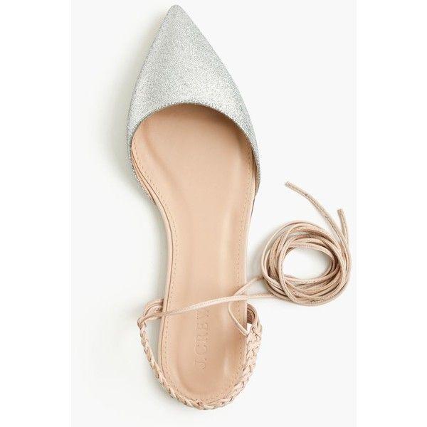 76f60adad9 J.Crew Slingback Glitter Flats ($215) ❤ liked on Polyvore featuring shoes,  flats, j crew flats, nude shoes, sling back flats, summer flats and nude ...
